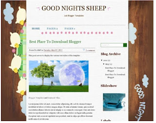 template blogger GOOD NIGHT SHEEP