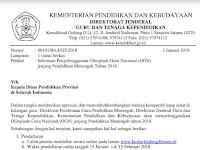 Surat Edaran Olimpiade Guru Nasional (OGN) 2018