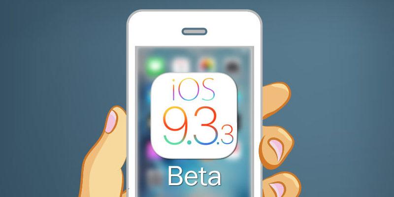 Download iOS 9.3.3 beta 2