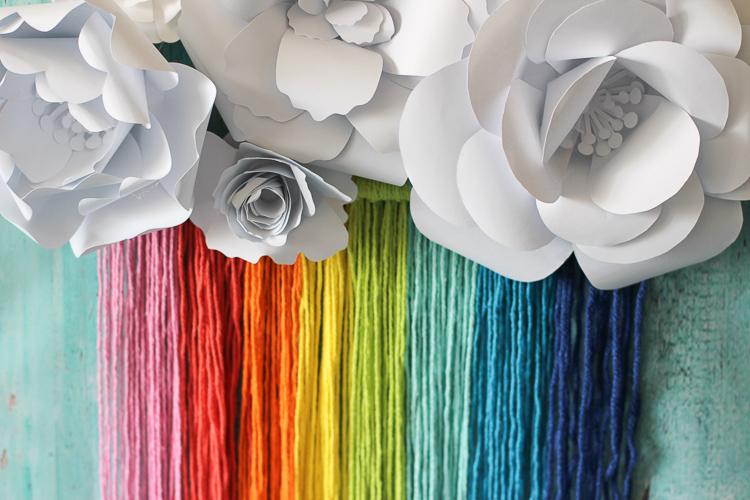 Boho rainbow wall hanging