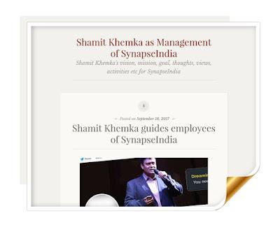 Shamit Khemka Management Wordpress