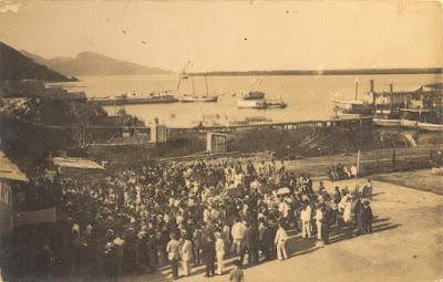 Porto Grande de Iguape. Início do século XX. Crédito: Arthur Fortes Filho.