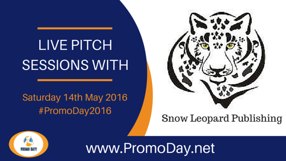 Snow Leopard Publishing will be taking pitches during ‪#‎PromoDay2016‬ @snowleopardpub
