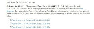 تحميل أحدث نسخة من برنامج Flash Player لأجهزة Android