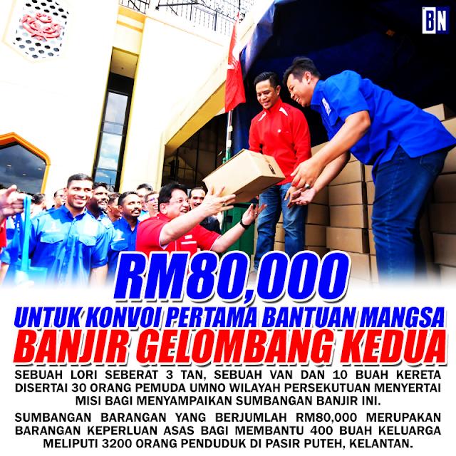 RM80,000 Untuk Banjir Kelantan #PemudaWilayah #Banjir2017