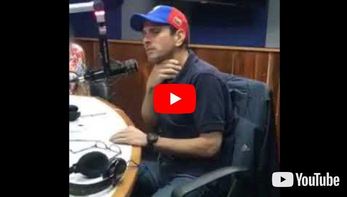 Henrique Capriles asegura que su abuela lo enseñó a no odiar al Chavismo
