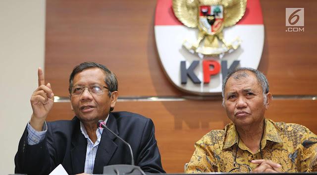 KPK Tindaklanjuti Testimoni Mahfud MD dengan Catatan