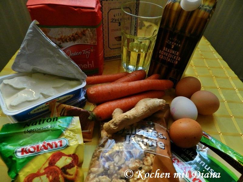 Zutaten Karottentorte