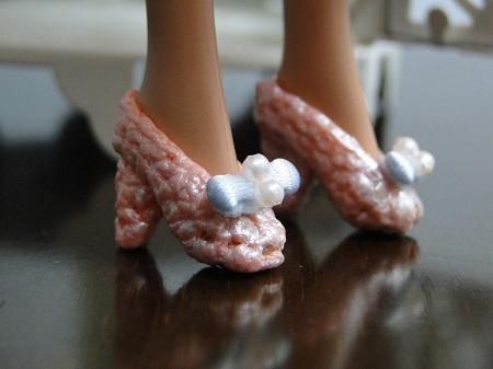 PAP sapatos de crochê para Barbie