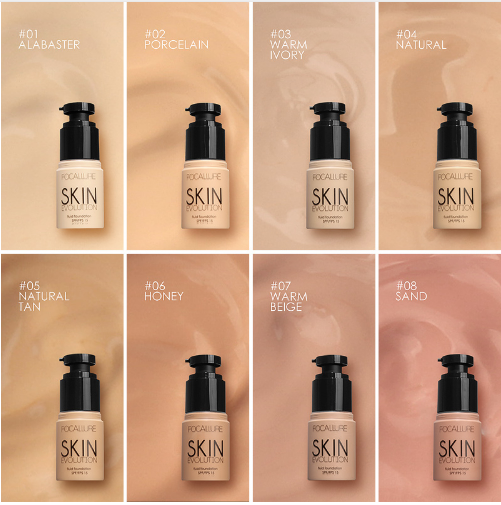 Focallure Skin Evolution Fluid Foundation shades