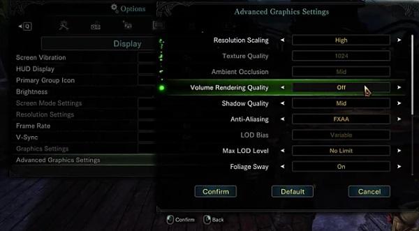 Monster Hunter World Option
