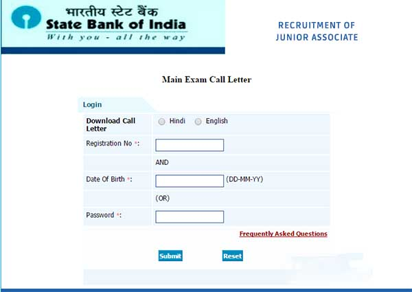 download sbi junior associate 2018 admit card hall ticket