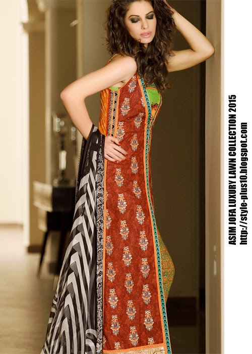 d1c4b23d25 Stylish Lawn Dresses From Asim Jofa Luxury Lawn Collection 2015 ...