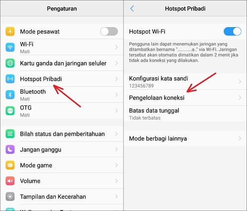 Cara Memutuskan Koneksi WiFi yang Tersambung Hostpot di Android
