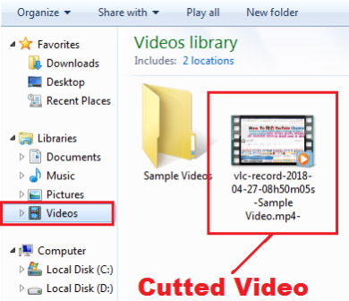 how to cut video clip in vlc media player