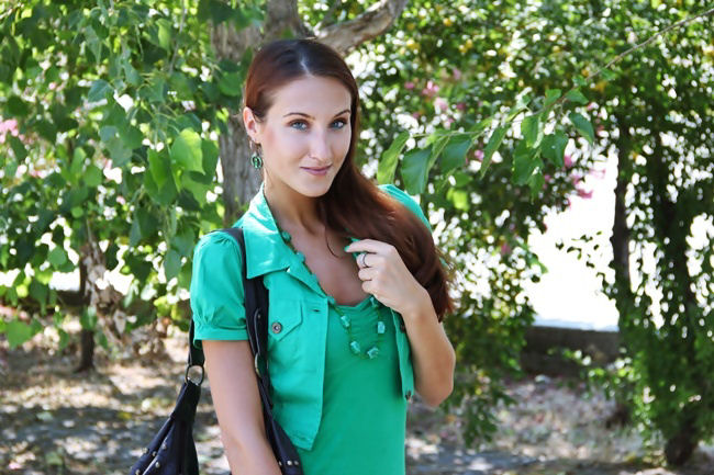 best green outfits for spring, best grass green looks