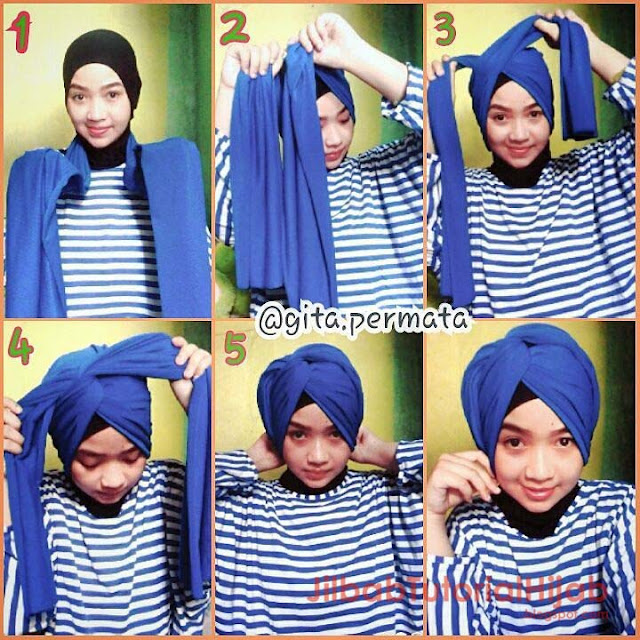 Tutorial hijab pashmina tanpa jarum pentul sehari-hari terbaru