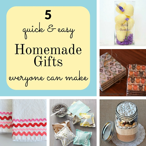5 quick & easy homemade gifts