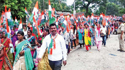 march in Nagrakata