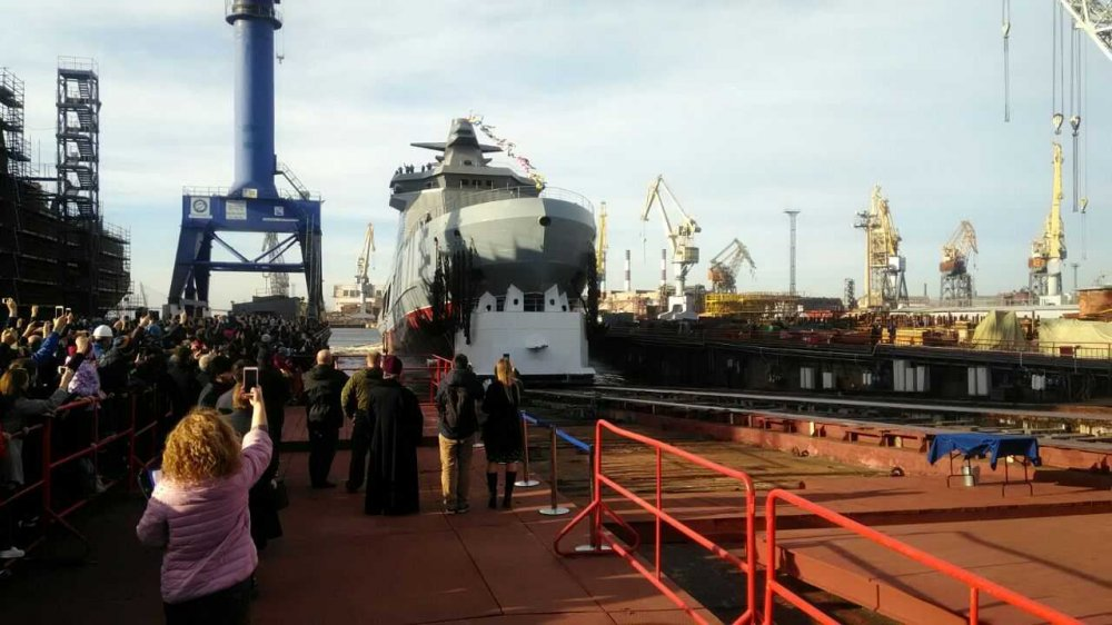 Росія спустила на воду перший патрульний криголам