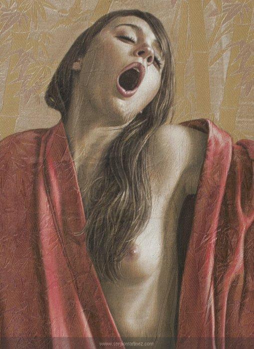 Sergio Martínez arte pinturas retratos hiper-realistas mulheres nuas seminuas sensuais provocantes