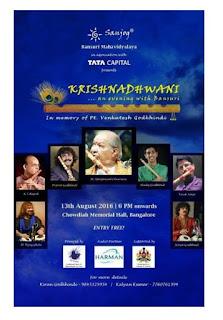 'Krishnadhwani' An ode to the bansuri maestro – Pt. Venkatesh Godkhindi
