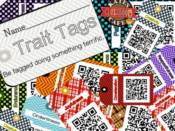 Science Tags: Kate's Science Classroom Cafe: Free QR CODE TRAIT TAGS: Be