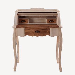 Mueble escritorio rustico blanco decape