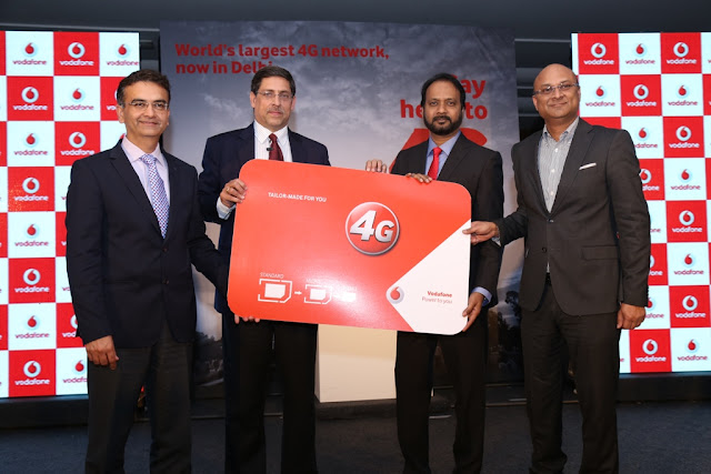 Vodafone India launches 4G services on superior 1800 MHz spectrum in Delhi and NCR