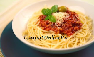 spaghetti bolognaise enak lezat