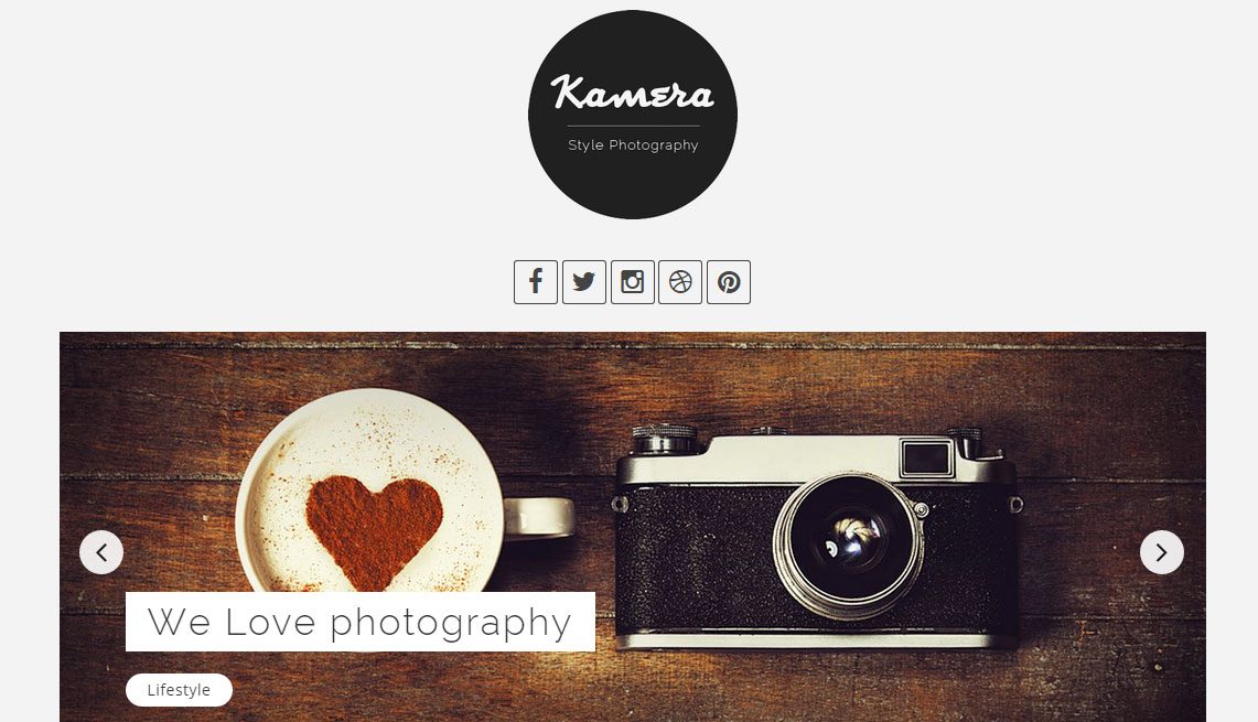 Kamera Photography Blog Template