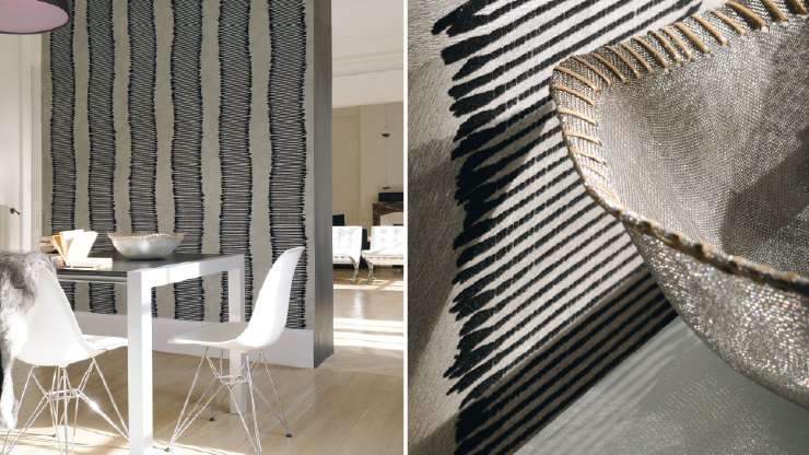 domiciles mobilier contemporain elitis papiers peints. Black Bedroom Furniture Sets. Home Design Ideas