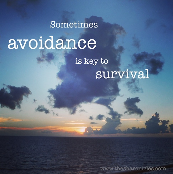 Avoidance is key to survival (Cruise ship quote)