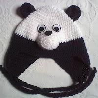 Urso Panda em crochê