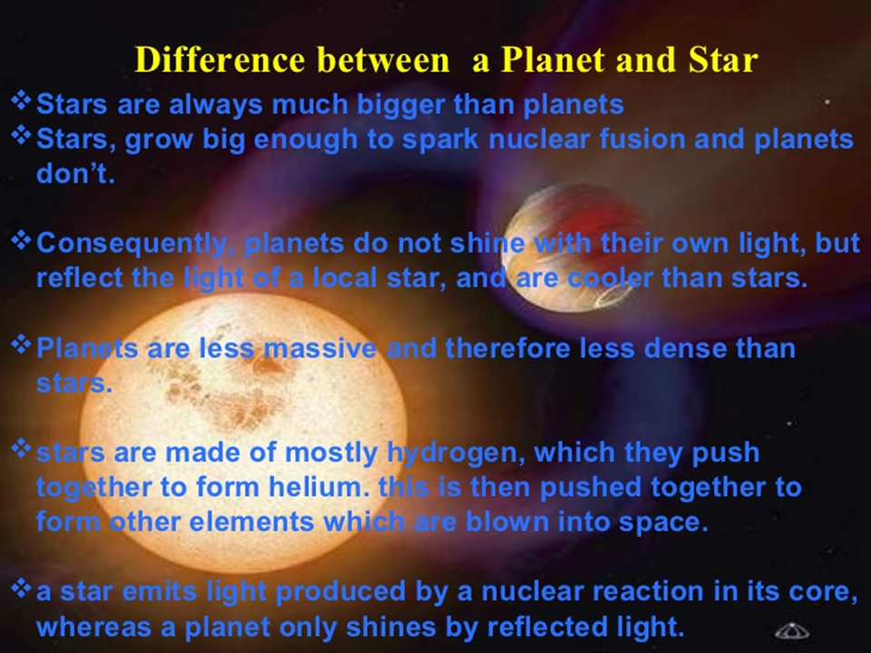 difference between stars and planets with comparison - 960×720