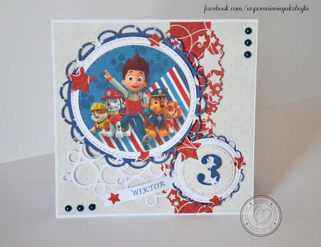 Kartka na 3 urodziny Wiktora