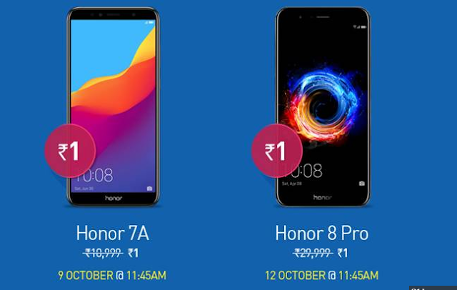 This Dussehra can be purchased at 1 rupee, 7A, honor 8 Pro and honor band 3