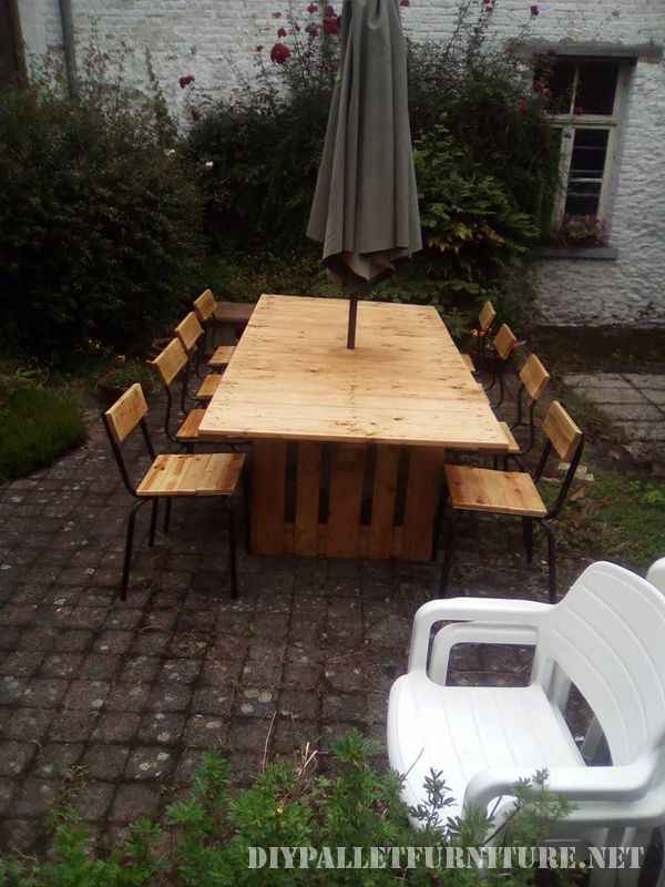 Mesa y sillas para cenador de jard n for Cenador para jardin