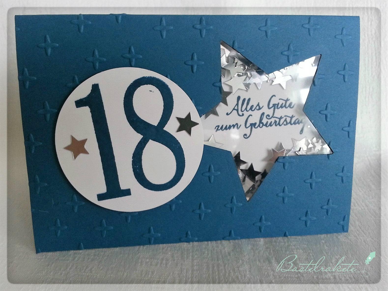 Bastelrakete Karten Zum 18 Geburtstag