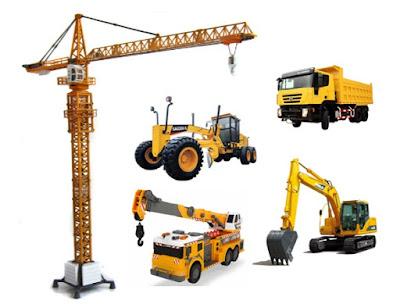 Alat Berat Tower Crane, Mobile Crane, Excavator, Motor Grader, Dump Truck