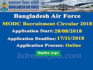 Bangladesh Air Force MODC Recruitment Circular 2018
