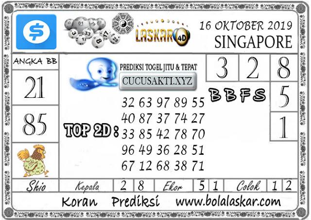 Prediksi Togel SINGAPORE LASKAR4D 16 OKTOBER 2019