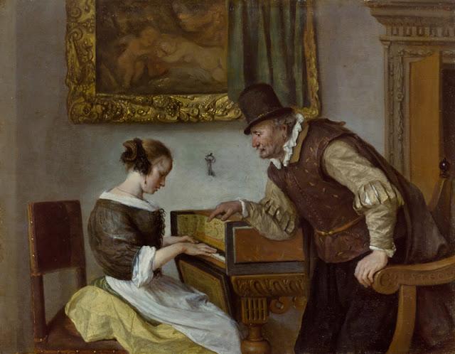 Jan Steen - La lección de clavecín - 1660