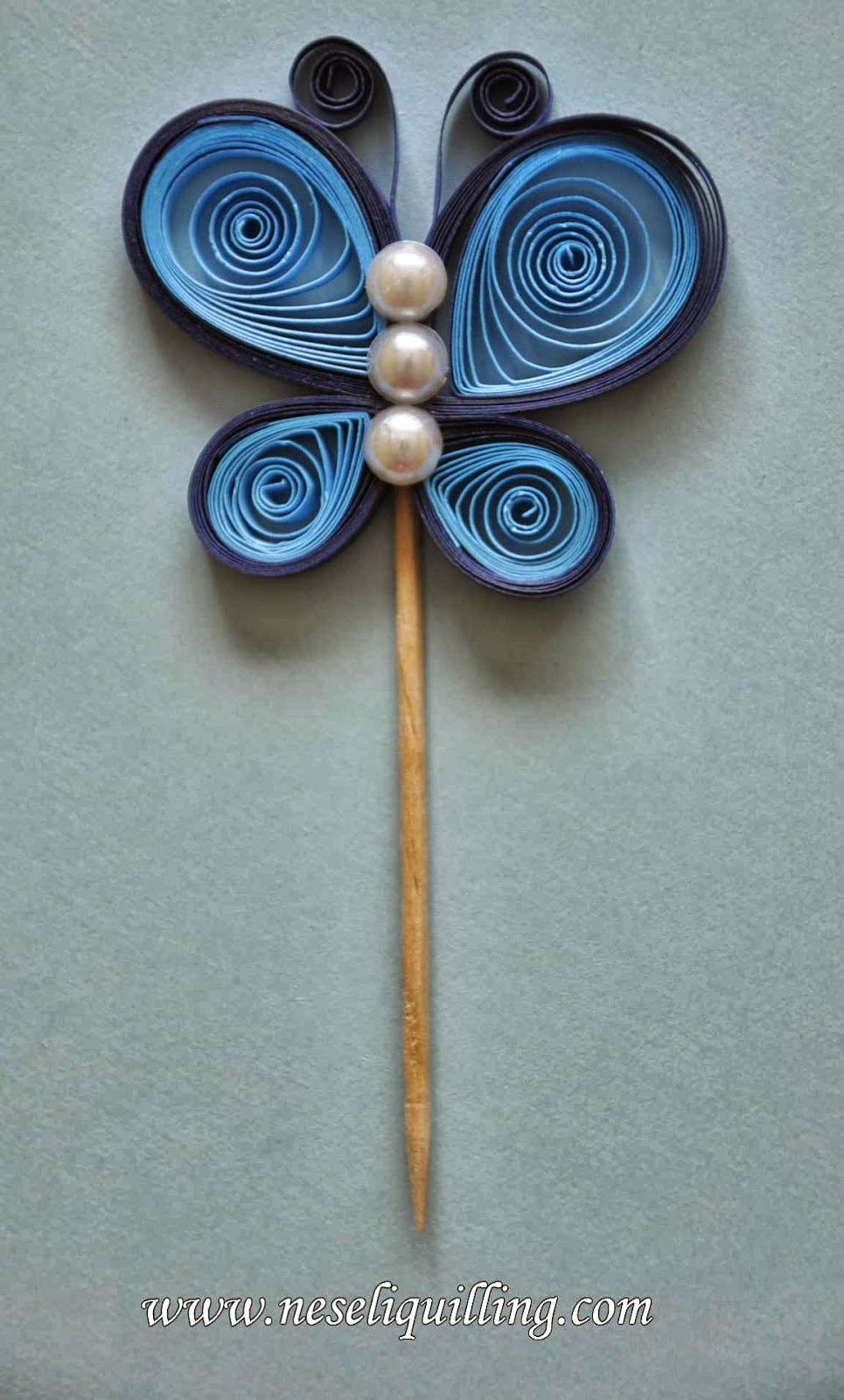 neseli quilling butterfly