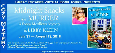 Review + Tour GIVEAWAY: Midnight Snacks Are Murder by Libby Klein
