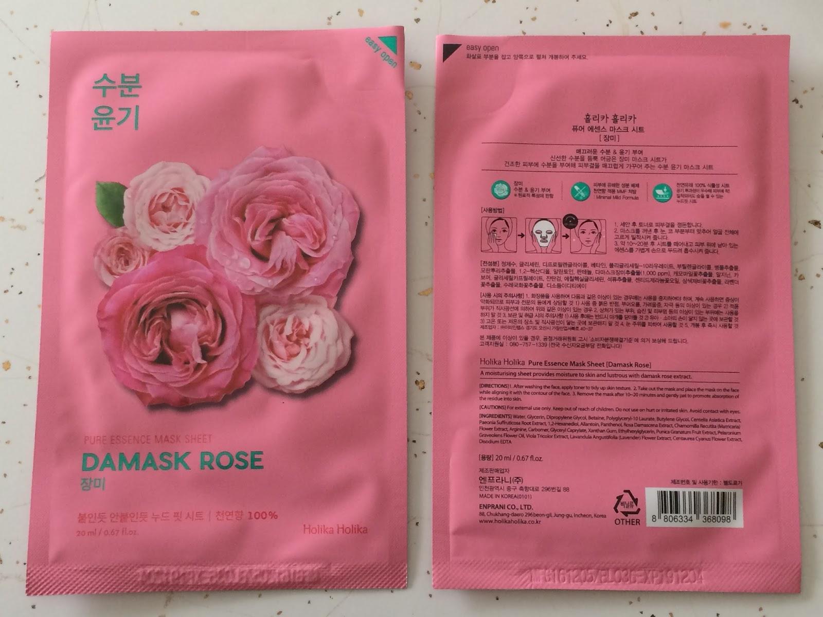 Half Past October Me To Memebox Unboxing Treatyoselffirst 5 Holika Pure Essence Mask Sheet Pearl Damask Rose X2 1 Each