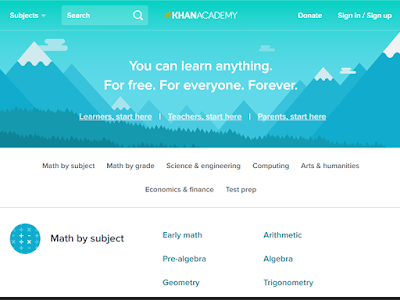 Khan Academy is free for anyone to use and learn traditional academic subjects and a bit of computer programming