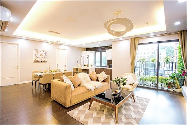 Phòng khách căn hộ ray river residence