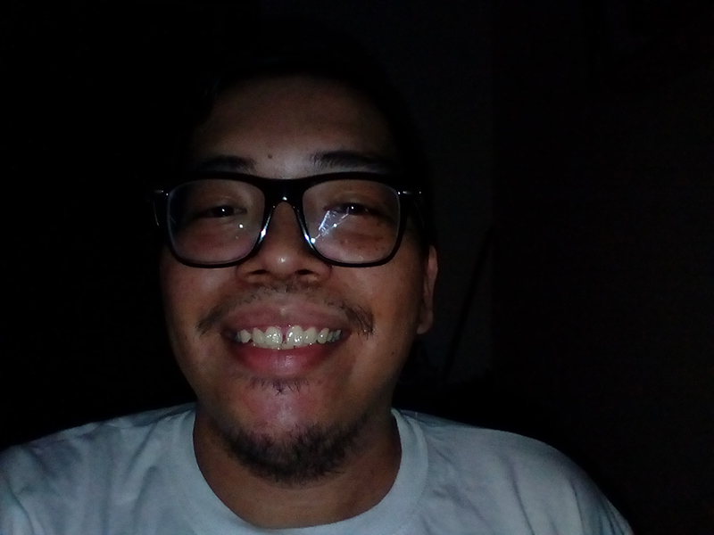 Moto C Plus Front Camera Sample - Selfie with Flash, Low Light