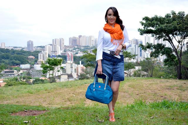 combinando azul e laranja, look azul e laranja, bolsa uncle k, sandália laranja, sandália uncle k, uncle k ribeirão shopping, sapatos confortáveis, o melhor blog de moda, blog camila andrade, camila andrade, fashion blogger em ribeirão preto, blogueira de moda em ribeirão preto, como usar azul e laranja no look
